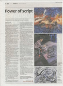 Article of CN LIEW's Abstract artwork, inspired by Chinese Calligraphy remain popular among Collectors on The Star Newspaper
